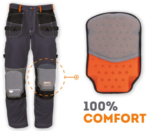 Fento 100 knee pads for work pants. Buy online at Nierhaus shop